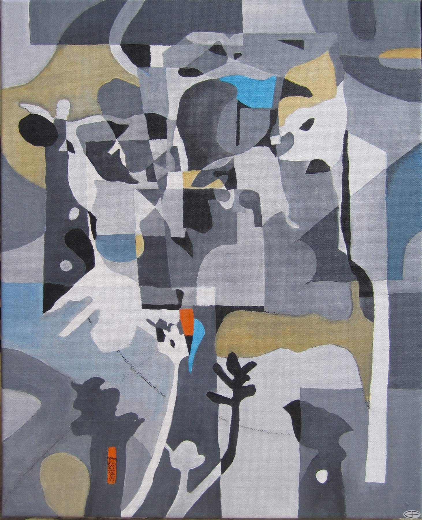 Eric Pedersen: Abstract Painting based on Shadows