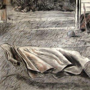 Eric Pedersen - House on Lake Superior Drawing