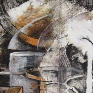 Eric Pedersen - Iron Pour Montage Drawing