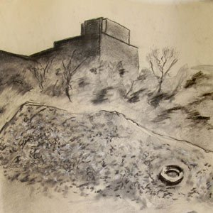 Eric Pedersen - West Bank Landscape Drawing #1